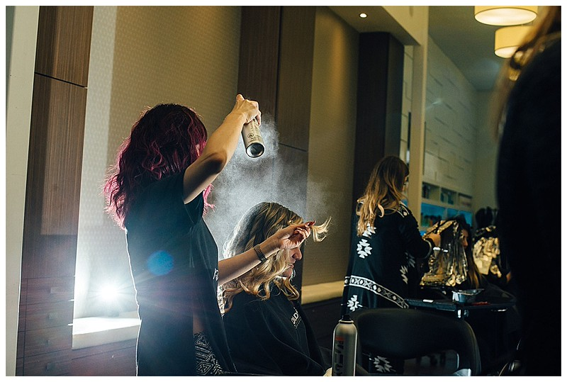 Salon Blue wedding hair